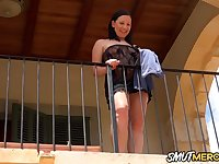 Sex with Beautiful MILF Ashley Dark on the Balcony Makes the View Better