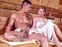 Couple Fucks In The Sauna