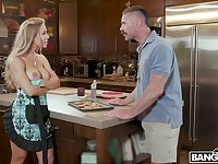 Brother-in-law can't resits fucking nude Nicole Aniston wearing only apron