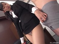Kurokawa Sumire moves her panties for long and strong friend's penis