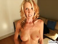 Horny MOM fucks and swallows cum