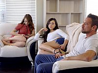 Daddy seduced by both of his daughters