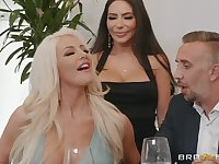 hot divas Lela Star and Nicolette Shea share hard friend's penis