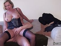 Teenager Boy Seduce German mommy Friend of Mother to Get Laid