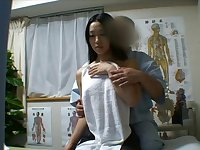 Japanese angel massaged and drilled lustily