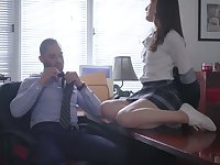 Vivid naughty coed chick Danni Rivers gets nailed by her tutor on table