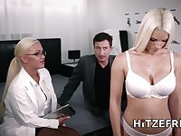 Naughty threesome with two German babes