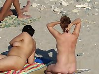 Public Beach MILF Mature Spycam Compilation