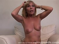 Raunchy Cougar Gets Naked - Solo Session