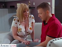 Giant breasted MILF Sara Jay cannot get enough from topping fat prick
