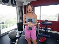Asian pornstar Kendra Spade fucked by her personal trainer