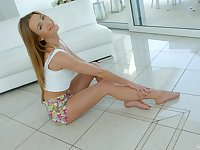 Alexis Crystal can't wait for her boyfriend to come home so uses a dildo