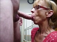 Nice dirty mouth she has and this granny knows how to give a good blowjob