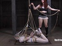 Kinky torture session between lesbians Star and Claire Adams