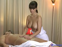 Sensual masseuse with big jugs, insane oral and blowjob