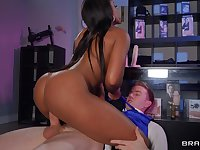 Black looker Lola Marie fucks a white guy while sex toy shopping