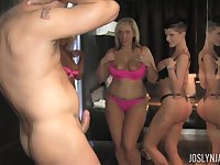 Three mature ladies hire a male prostitute and fuck him to exhaustion